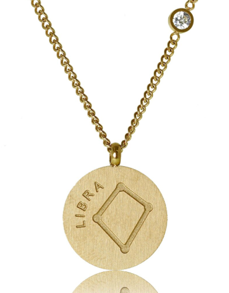 FAB Accessories Libra Necklace/ Brushed Stainless Steel