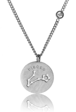 FAB Accessories Pisces Necklace/ Brushed Stainless Steel