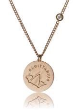 FAB Accessories Sagittarius Necklace/ Brushed Stainless Steel