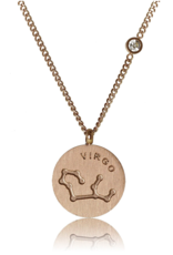 FAB Accessories Virgo Necklace/ Brushed Stainless Steel