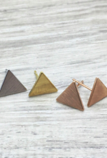 FAB Accessories Classic Triangle Stud Earring/ Stainless Steel/ Hypoallergenic