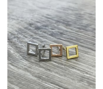 Luxe Open Square Stud Earring/ Stainless Steel/ Hypoallergenic