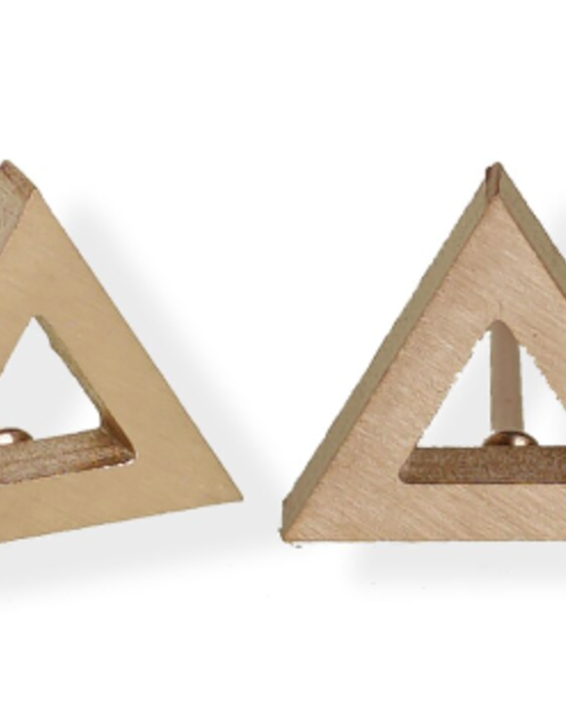 FAB Accessories Luxe Open Triangle Stud Earring/ Stainless Steel/ Hypoallergenic