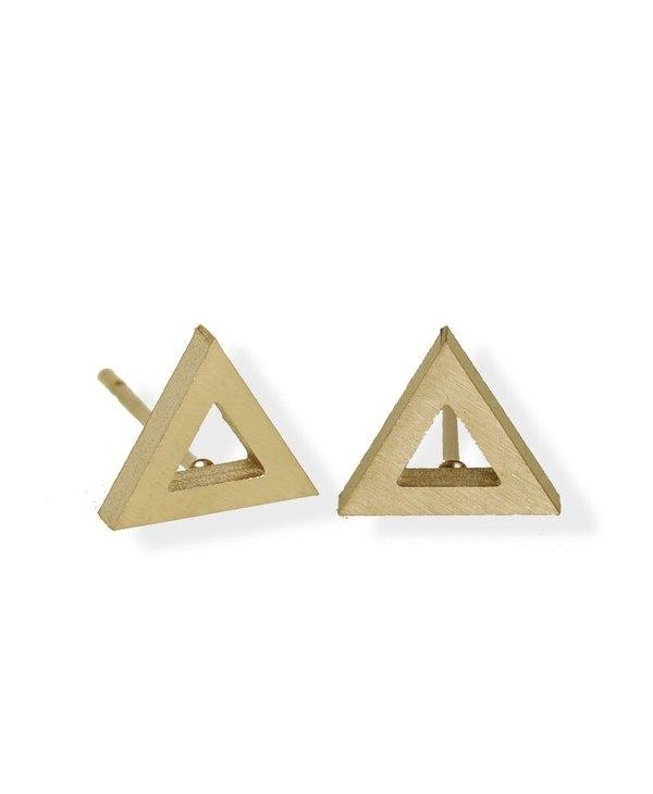 Luxe Open Triangle Stud Earring/ Stainless Steel/ Hypoallergenic