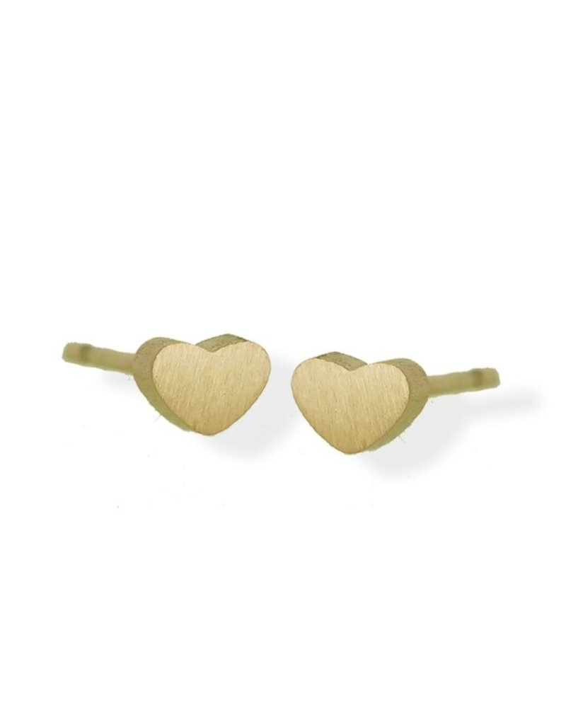 FAB Accessories Petite Heart Stud Earring/ Stainless Steel/ Hypoallergenic