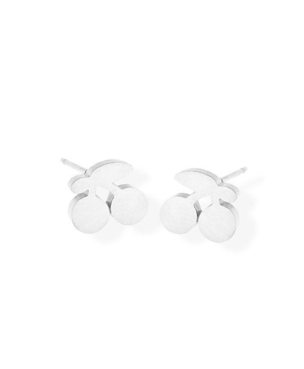 Cherry Stud Earring/ Stainless Steel/ Hypoallergenic