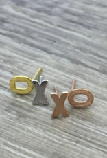 FAB Accessories Brushed XO Stud Earring/ Stainless Steel/ Hypoallergenic/ Seine