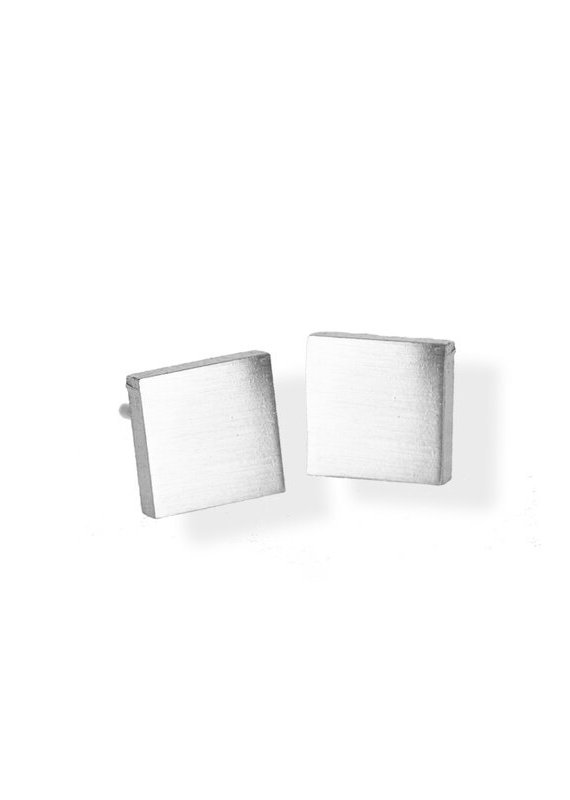 FAB Accessories Classic Square Stud Earring/ Stainless Steel/ Hypoallergenic