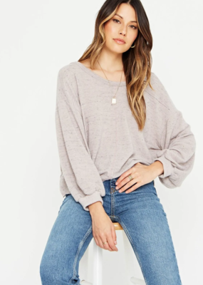 Project Social Major Crush Back V Cozy Sweatshirt Grey