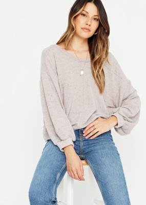 Project Social Major Crush Back V Cozy Sweatshirt Grey