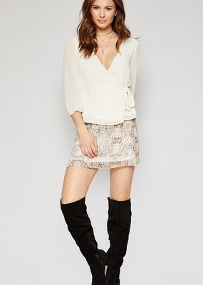 Sadie & Sage Snake Skin Print Skirt