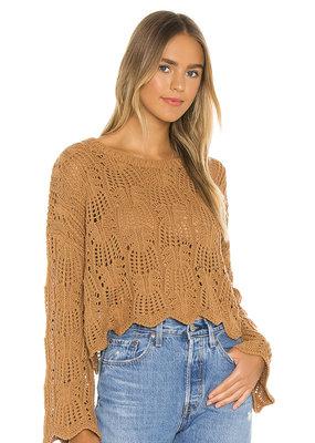 Mink Pink Wynn Knit Sweater- Tan