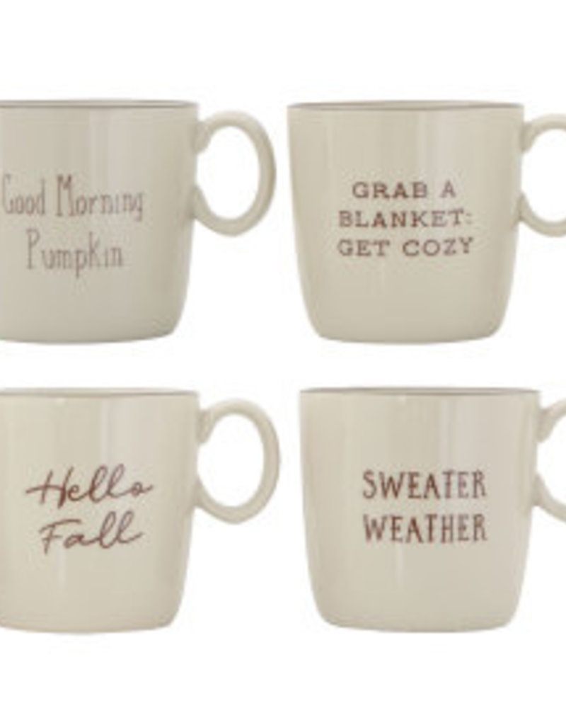 CREATIVE CO-OP Hello Fall Mug