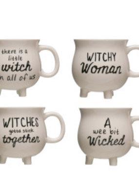 CREATIVE CO-OP Cauldron Mug: A Wee Bit Wicked