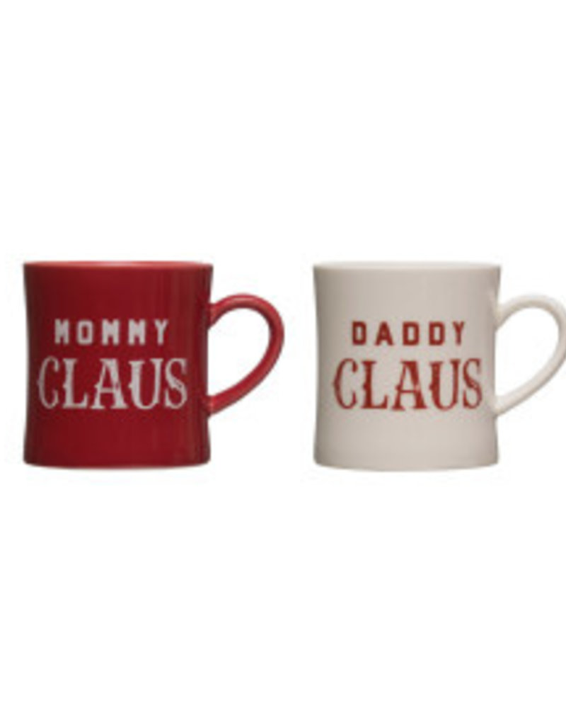 CREATIVE CO-OP Stoneware Claus Mug
