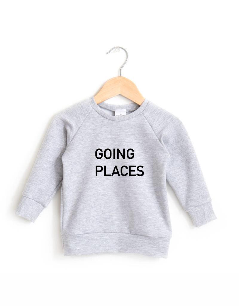 Posh & Cozy Going Places Toddler Crewneck