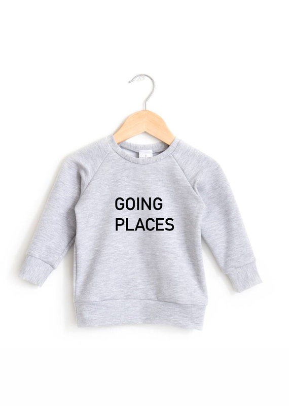 Posh & Cozy Going Places Youth Crewneck