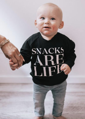 Posh & Cozy Snacks Infant Crewneck