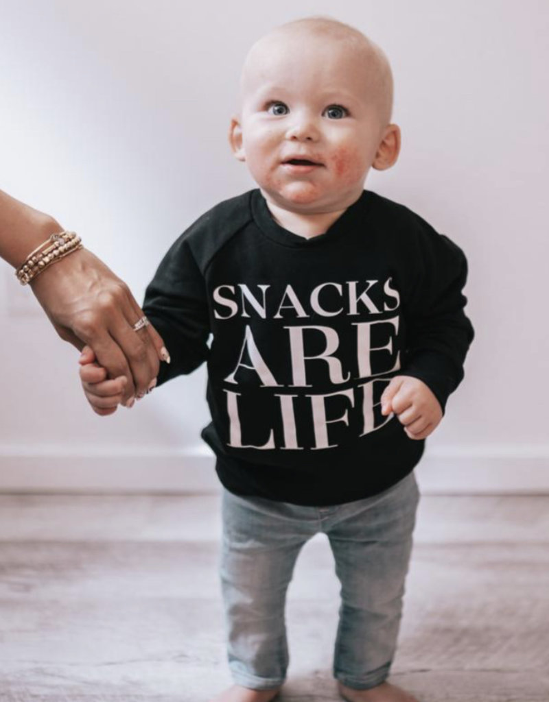 Posh & Cozy Snacks Infant Crewneck