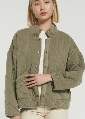 Z Supply Maya Quilted Jacket- Washed Olive