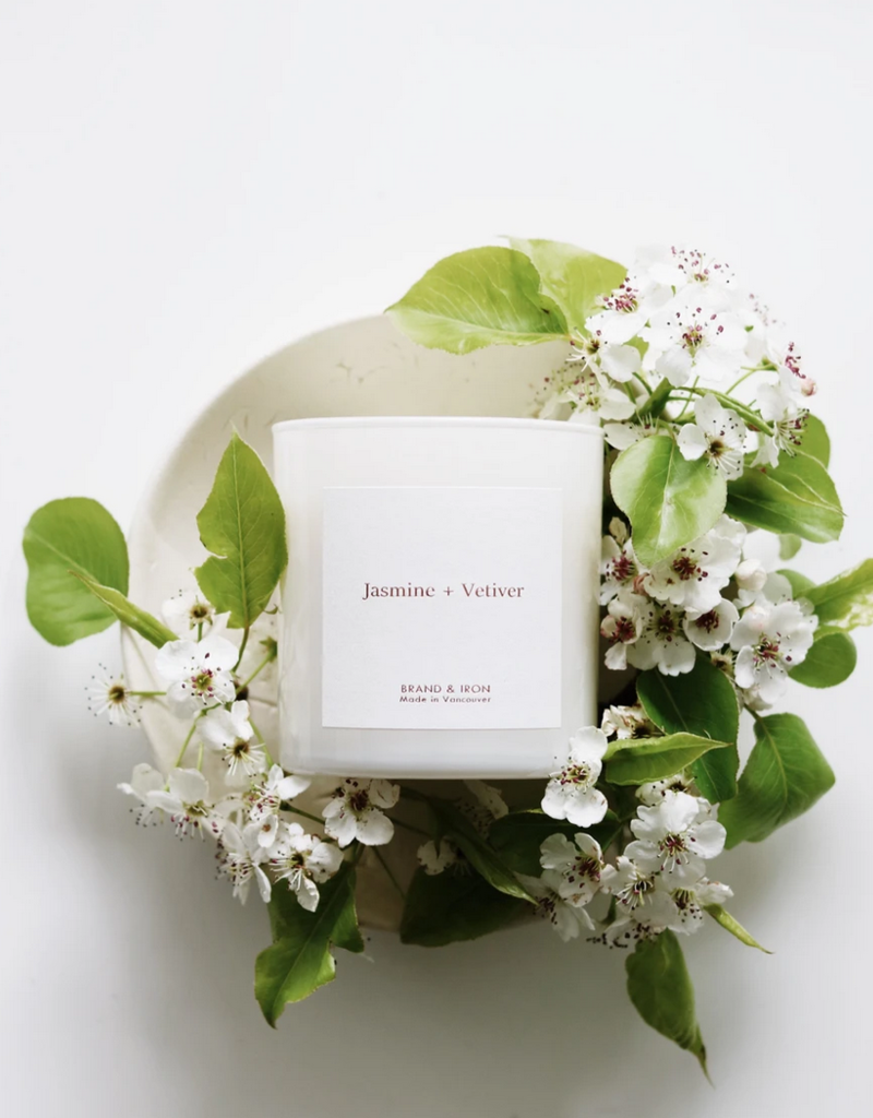 Brand & Iron Home Series Jasmine + Vetiver 8.5 oz