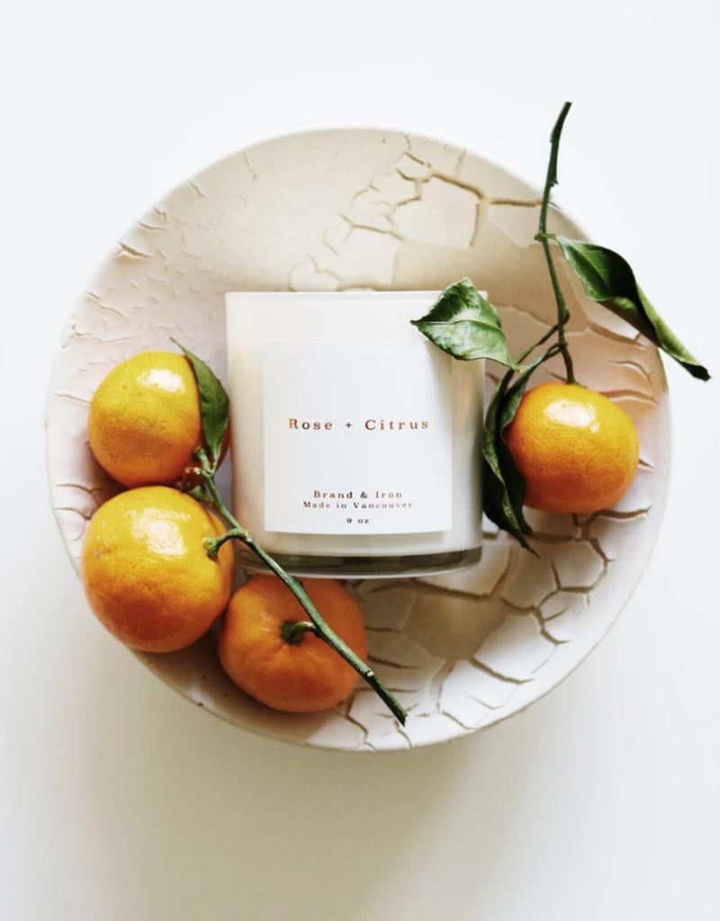 Brand & Iron Home Series Rose + Citrus 8.5 oz