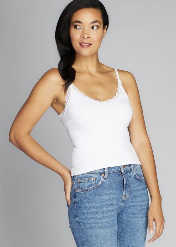 Cest Moi Bamboo Tank With Lace