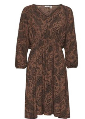 B.Young BYSherol Dress- Tortoise Paisley