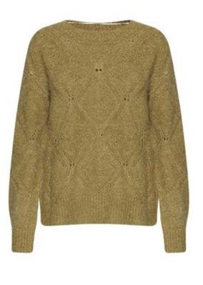 ICHI Madelinih Knitted Pullover- Bronze Mist