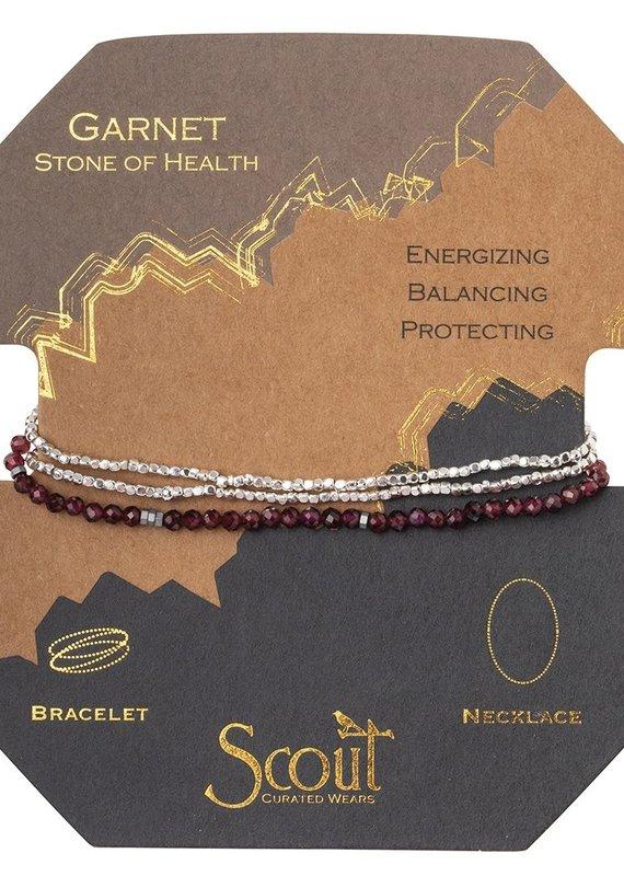 Scout Delicate Stone Garnet, Stone of Health