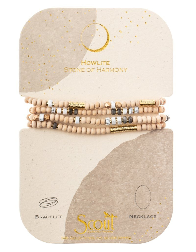 Scout Howlite/Gold Wrap