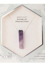 Scout Amethyst Necklace, Stone of Protection