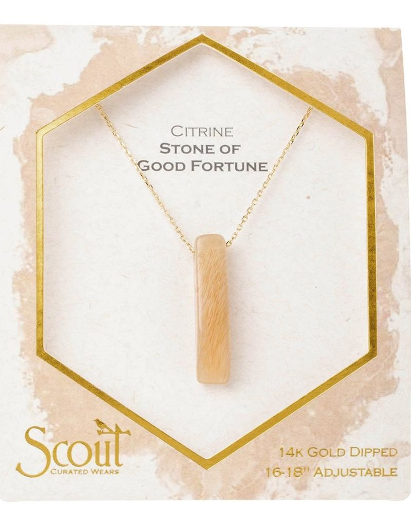 Scout Citrine Necklace, Stone of Good Fortune