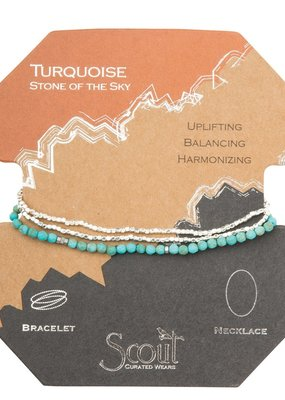 Scout Turquoise/Silver Necklace, Stone of the Sky