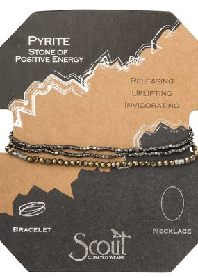 Scout Pyrite Necklace, Stone of Positive Energy