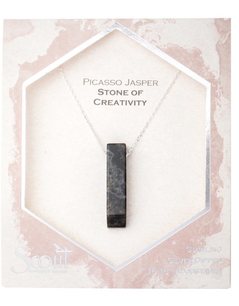 Scout Picasso Jasper Necklace, Stone of Creativity