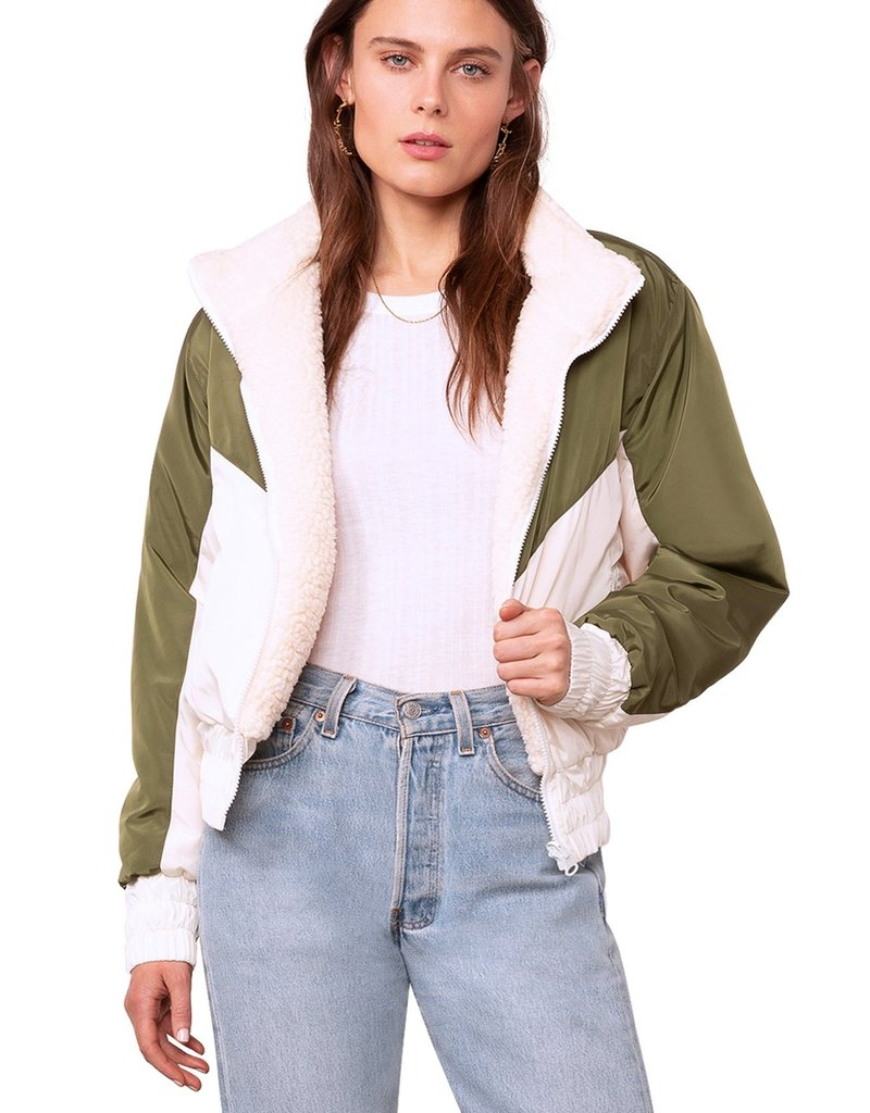 BB Dakota Ready Teddy Go Reversible Jacket, Ivory