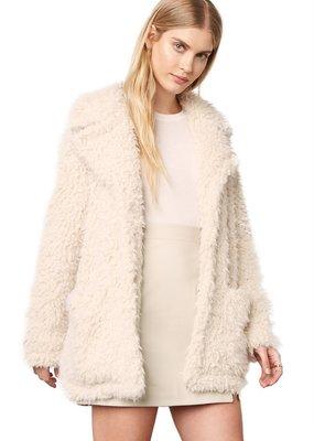 BB Dakota Warming Signs Faux Fur Coat, Tan