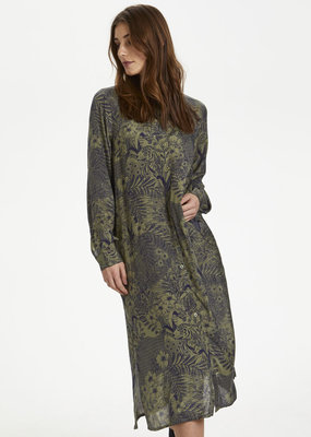 Kaffe KAmonna Shirt Dress Grape Leaf-Flow