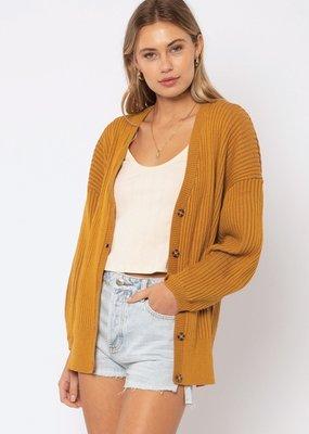 Amuse Society Baya Cardigan Sweater Amber Light