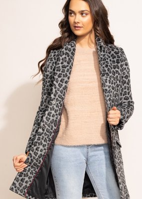 Pink Martini The Leopard Coat Dark Grey