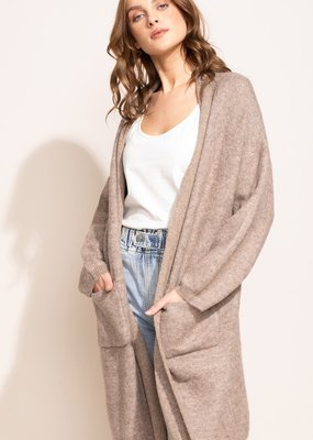 Pink Martini The Paisley Cardigan Taupe