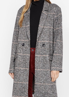Sanctuary Carlyle Coat Abstract Plaid