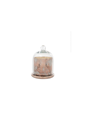 Indaba Trading Co. Cloche Candle Rose Gold L