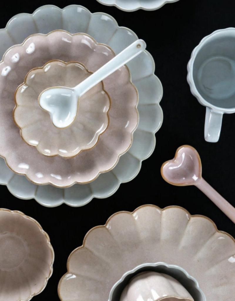 Indaba Trading Co. Ceramic Heart Spoon Blush