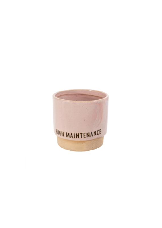 Indaba Trading Co. High Maintenance Pot Pink