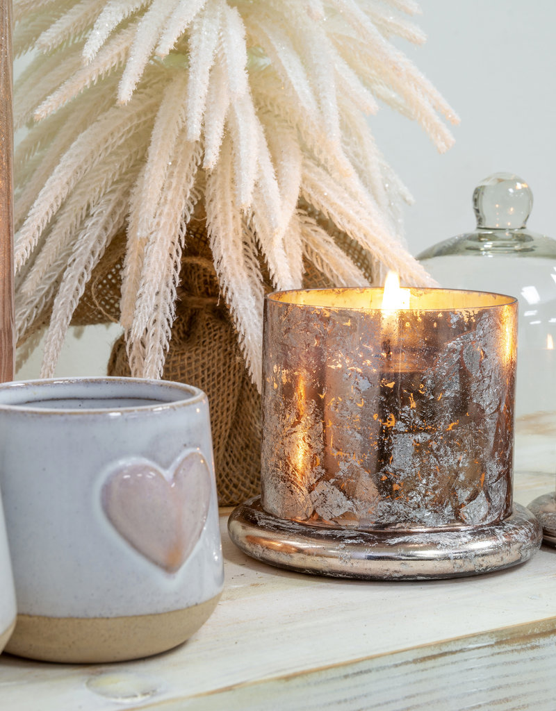 Indaba Trading Co. Cloche Candle Silver L