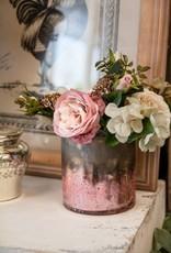 Indaba Trading Co. Rose Crackle Cylinder L