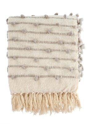 Indaba Trading Co. Knot & Weave Throw Grey