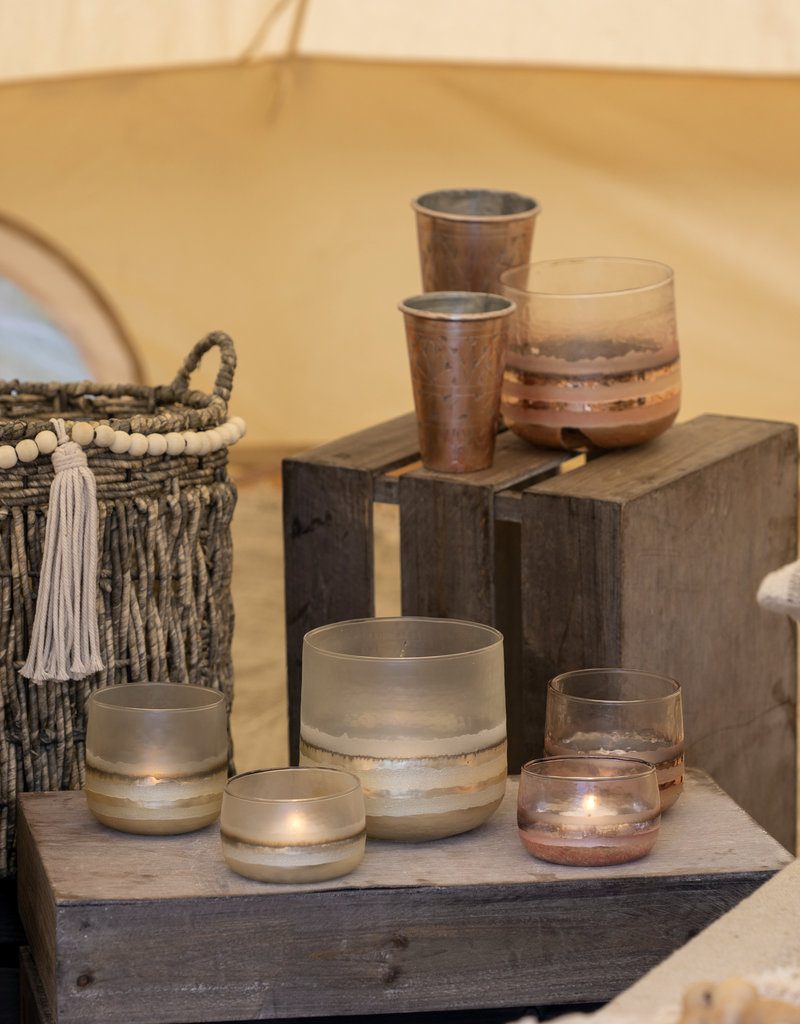 Indaba Trading Co. Echo Motive Glass, Lg Gold